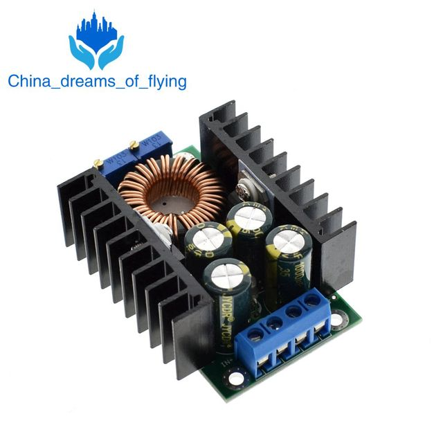 TZT DIY Electric Unit High quality C-D C CC CV Buck Converter Step-down Power Module 7-32V to 0.8-28V 12A 300W XL4016