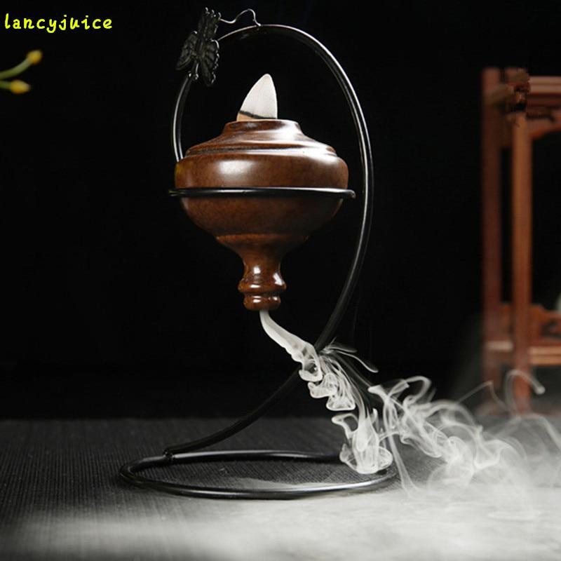 Backflow Smoke Incense Burner A Suspension Frame  Ceramic Ornaments Home Furnishing Office Decorations
