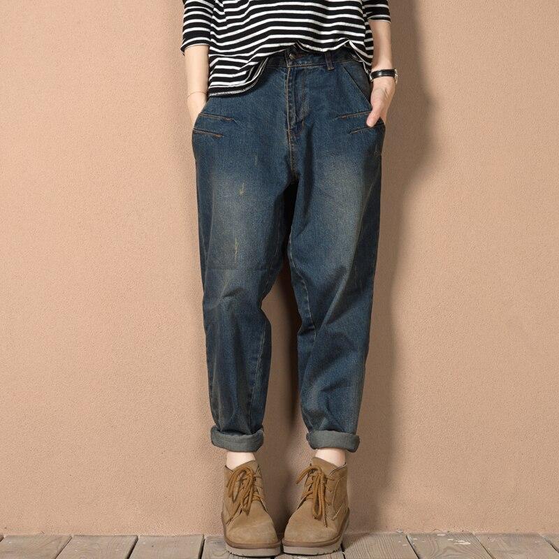333bd95667c Womens Spring Autumn Baggy Jeans Boyfriend Woman Loose Vintage Jeans Mujer  Women Streetwear Harem Denim Pants-in Jeans from Women s Clothing on ...