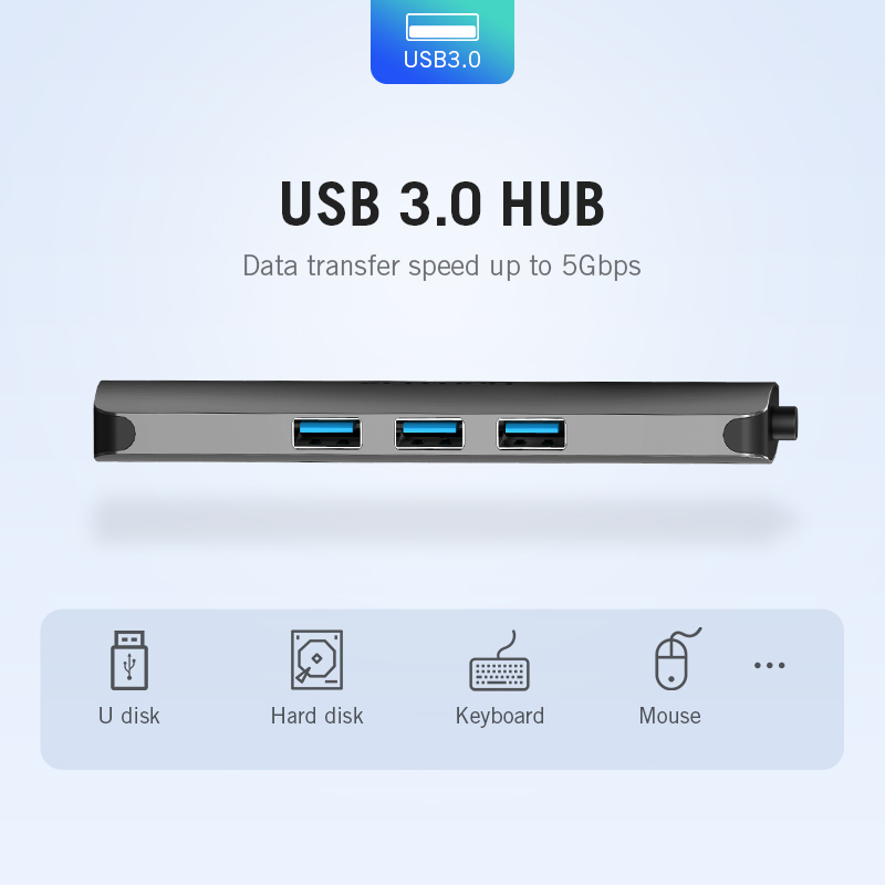 Image 3 - Vention Thunderbolt 3 Dock USB Hub Type C to HDMI USB3.0 RJ45 Adapter for MacBook Samsung Dex S8/S9 Huawei P20 Pro usb c Adapter