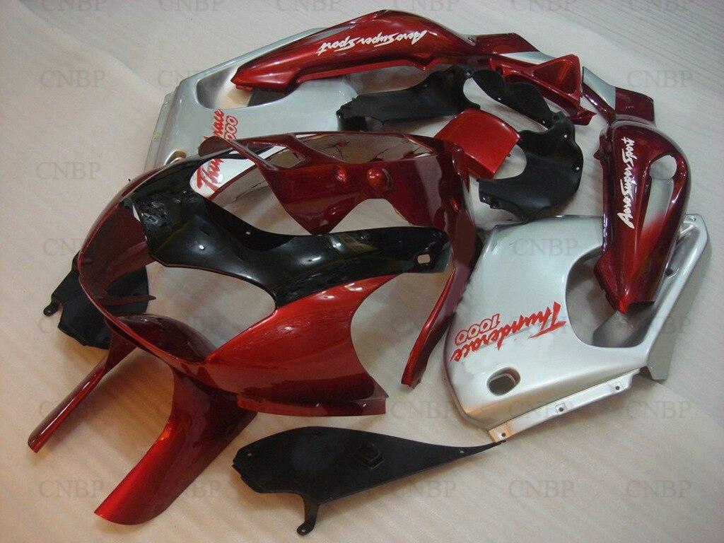 Кузов Thunderace 04 05 Обтекатели и YZF 1000р 96 97 1997 - 2007 мотоцикл Красный серебристый обтекатель YZF1000R 00 01
