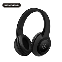 SENDEM T8 Smart Sports Folding Wireless Bluetooth Headphone Subwoofer Headset Supports TF Card Wireless Bass Headband