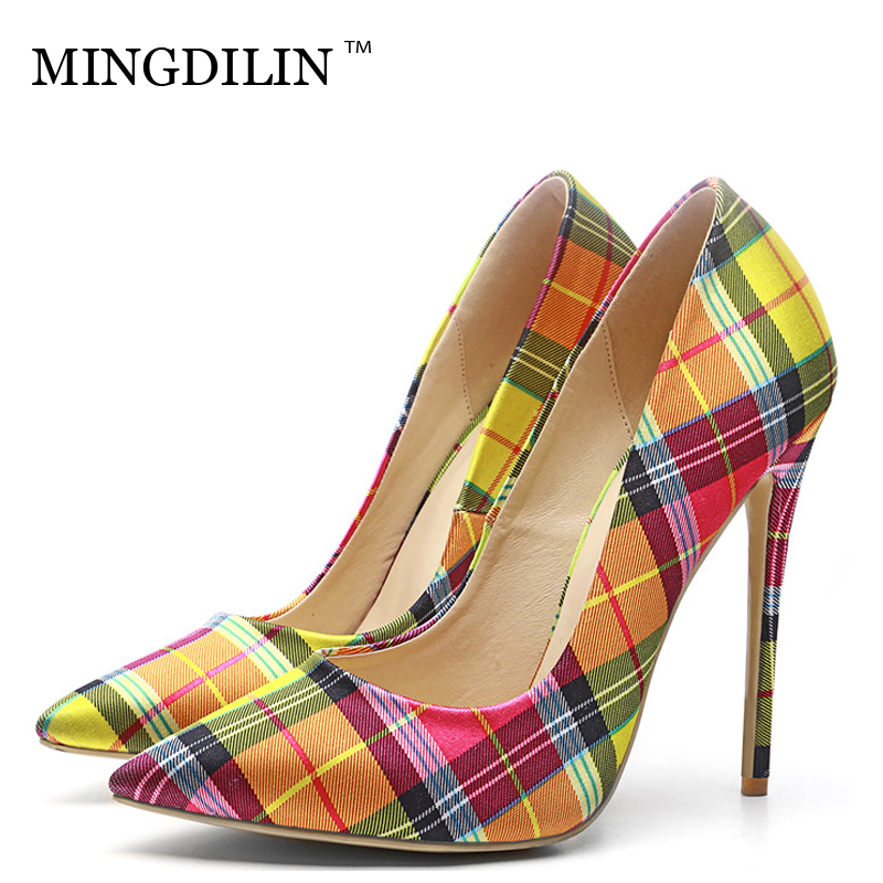 MINGDILIN Sexy Women's High Heels Shoes Plus Size 33 43 Denim Woman Shoes Blue Red Pointed Toe Wedding Party Pumps Stiletto 2018 mingdilin sexy women s high heels shoes silver gold plus size 33 43 woman heel shoes pointed toe wedding party pumps stiletto