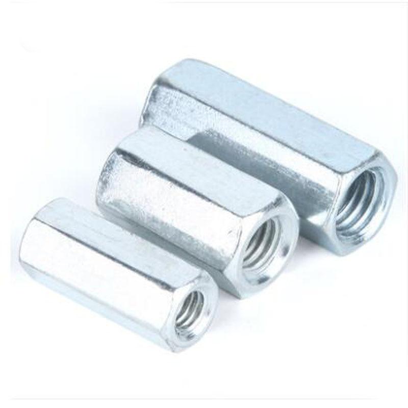 M10 DADI ESAGONALI Connessione Connettore esagonale Rod Bar Stud lungo DADO INOX