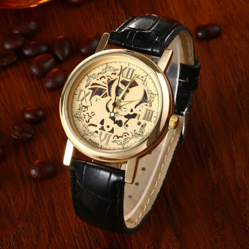 Excellent Quality 2016 New Fashion Watch Gold Color Mens Watches Casual Top Brand Luxury Ladies Watch Steel Women Dress Watches