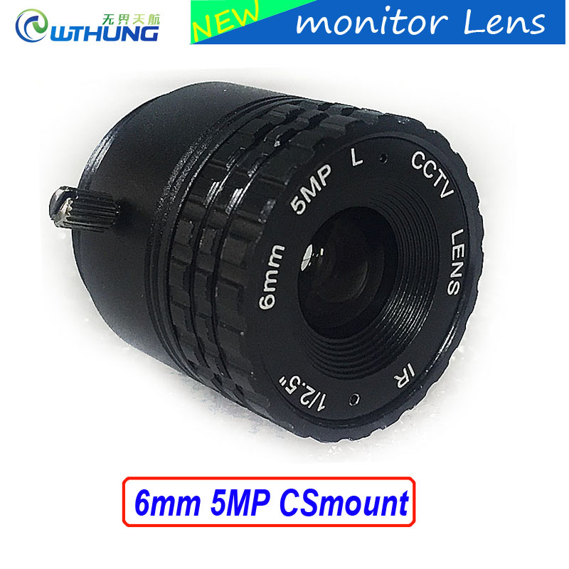Metal case Fixed CS Mount Lens 1/2.5 inch 6mm 5Megapixel For CMOS/CCD 1080P/3MP/4MP/5MP IP camera or AHD/CVI/TVI CCTV Camera как бесконечные патроны в cs 1 6 зомби