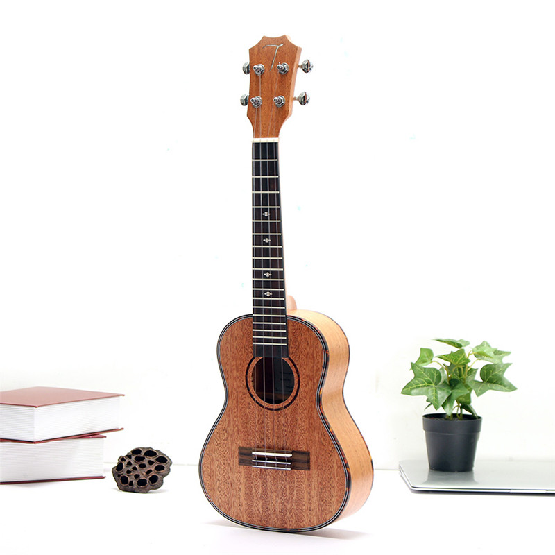 Tom TUC-200 23 Pulgadas de tipo C Ukulele Hawai Guitar Caoba Palo de rosa 4 Cuer