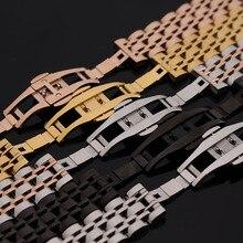 Rose del Metal del oro de acero inoxidable pulsera de la venda de cuarzo ultra delgado del wristband de la correa ancho 14 mm 16 mm 18 mm 20 mm 22 mm para hombre señora