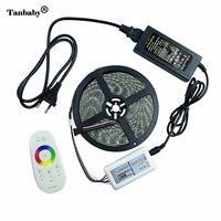 Tanbaby Su Geçirmez LED Şerit Işık 5050 RGBW RGBWW Bant 5 M 300 ledler + 2.4G kablosuz LED Kontrol ve DC12V 5A Güç adaptörü