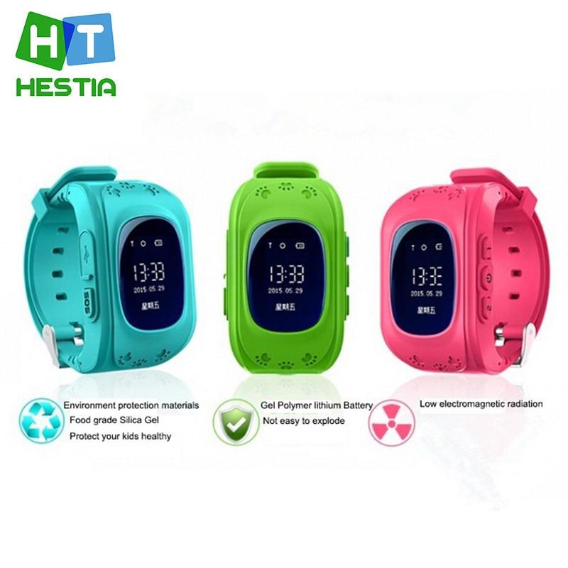 imágenes para HESTIA reloj Inteligente CALIENTE Niños Kid Reloj Q50 GSM GPRS GPS Localizador Rastreador Anti-perdida Smartwatch Niño Guardia para iOS Android