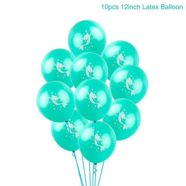 Light green balloon Mermaid party plates 5c64f5cb2f6ec