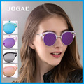 JOGAL Moda Óculos De Sol Das Mulheres Mais Nova Marca Designer Liga Templo Semi-Quadro Sem Aro Óculos Polarizados Óculos de Sol Do Vintage Com Caixa UV400