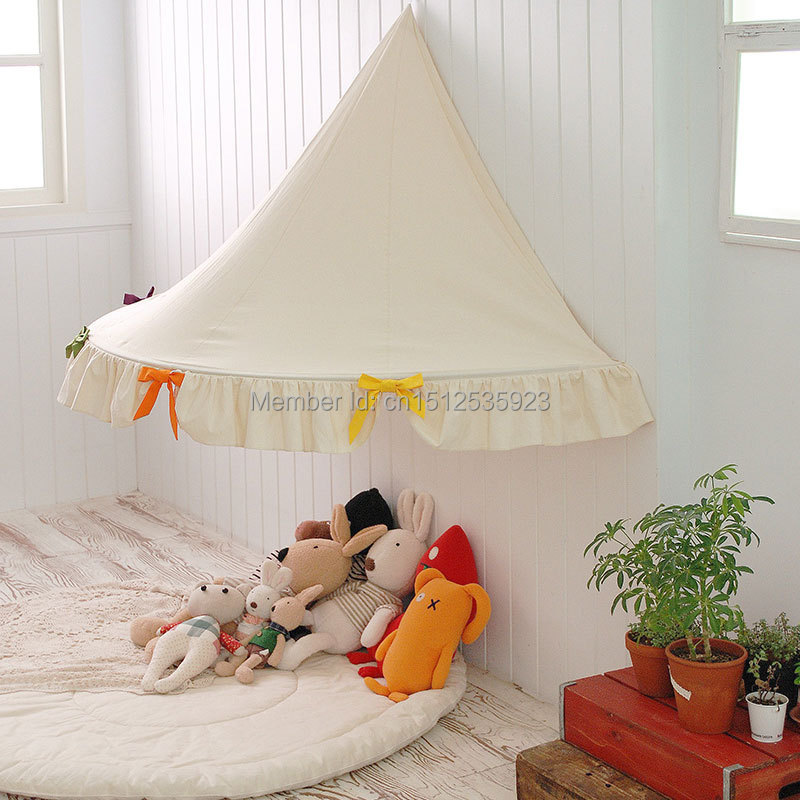 100% cotton canvas kids hanging tent children teepee tent child bed tent-in Toy Tents from Toys u0026 Hobbies on Aliexpress.com | Alibaba Group & 100% cotton canvas kids hanging tent children teepee tent child ...
