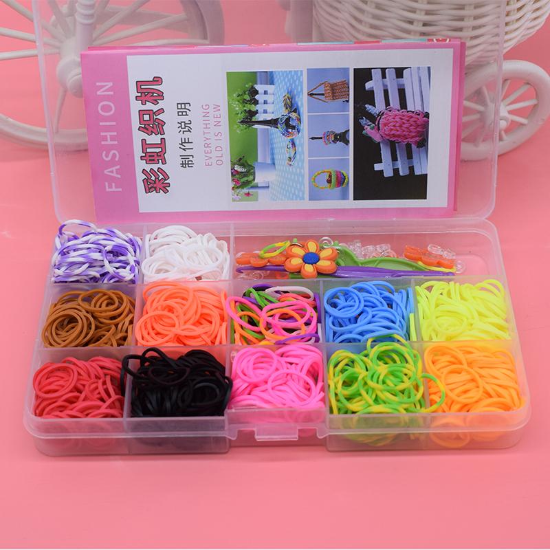 600pcs Children Diy toys rubber bands bracelet loom girl hair band colorful gum make woven bracelets kids gift toy dropshipping