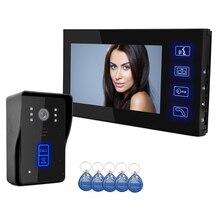 7″ TFT Touch Screen Video Door Phone Doorbell CCTV Camera Home Security Intercom System Monitor Night Vision RFID reader