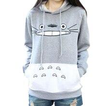 Cartoon Totoro Print Women Hoodies Sweatshirts