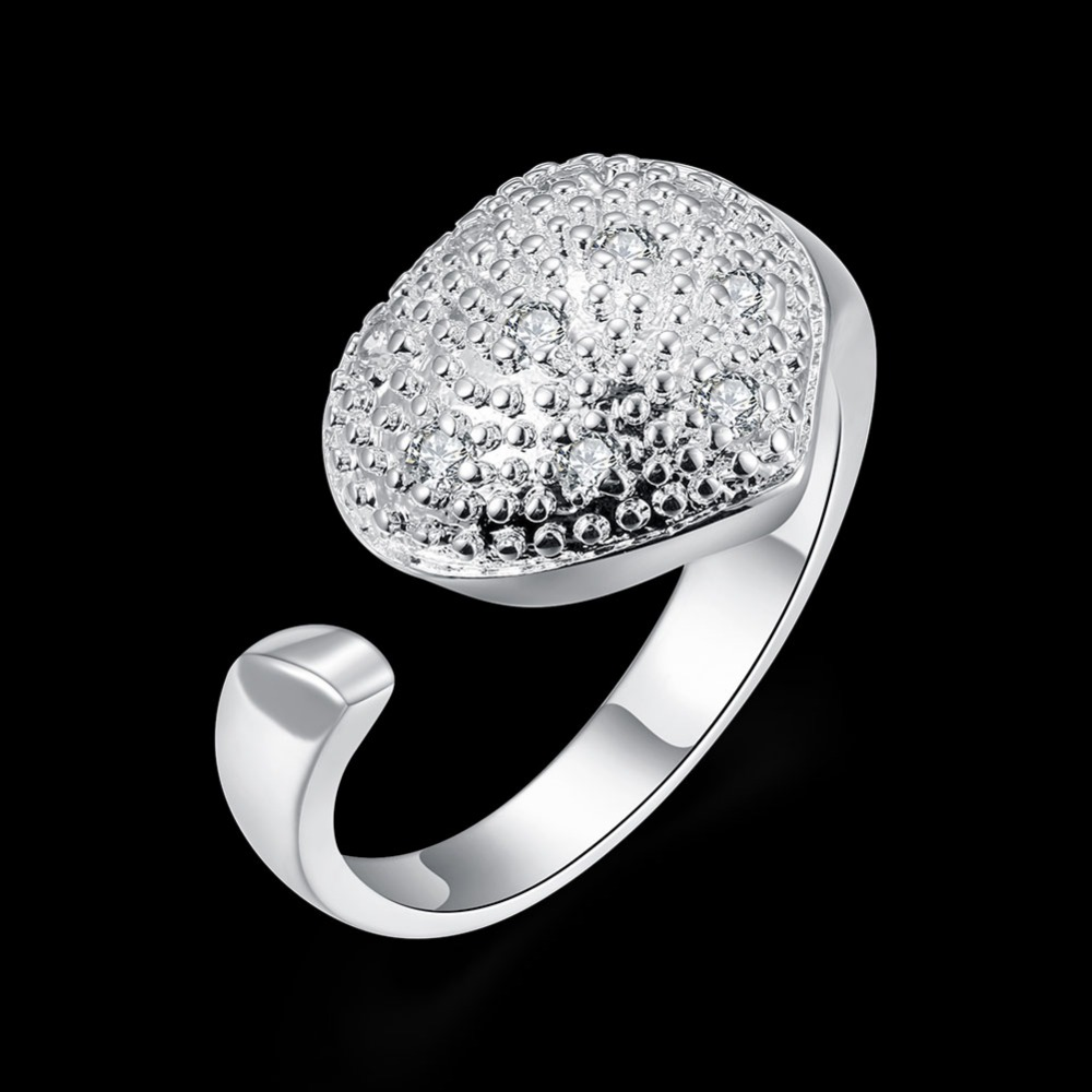 Vintage Adjustable Ring Female Silver With Stone Costume Jewelry Engagement  Rings Gifts For Women Aneis Feminino