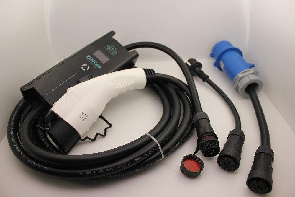 SAVE 10 16 20 24 32A réglable CEE Schuko adaptateur plug SAE J1772 Type 1 5 M câble cordon Électrique De Voiture ev Charge câble Duosida