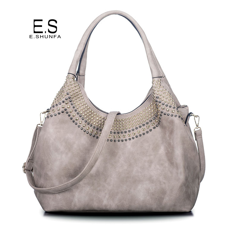 Beading Shoulder Bags Women 2018 New Fashion Casual Tote Bag Handbag Hobos High Quality PU Leather Shoulder Bag Large Capacity sgarr fashion womnen pu leather handbags high quality large capacity ladies shoulder bag casual vintage female hobos tote bags