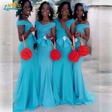 Elegant sky blue Mermaid Bridesmaid Dresses 2017 fashion V neck cap sleeves Long cheap Bridesmaid Dresses wedding party dresses