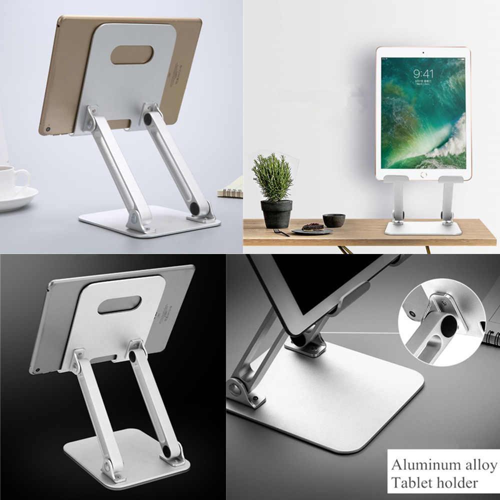 Masaüstü alüminyum alaşım Tablet tutucu açı/yüksekliği ayarlanabilir katlanır cep telefonu tabletleri standı için iPad hava Mini Pro 12.9 inç