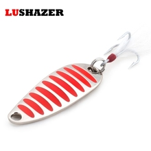 LUSHAZER brand Fishing lure spoon 2g 5g 7g 10g 15g 20g Gold Silver fishing bait spoon