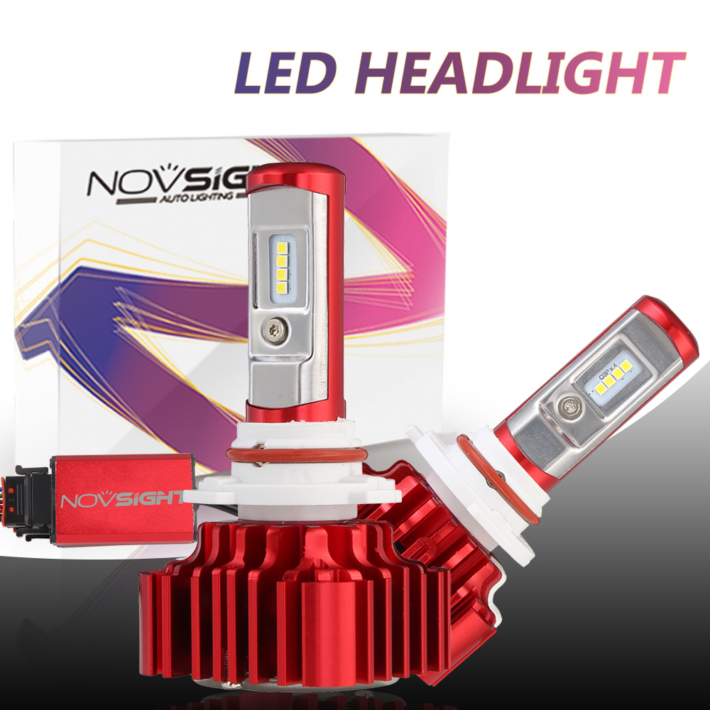 Novsight Auto Led Light Bulbs H7 H4 H11 9005 9006 Lamps 60w 8000lm Csp Chips Car Driving Headlights 12V 24V 6000k White Lighting