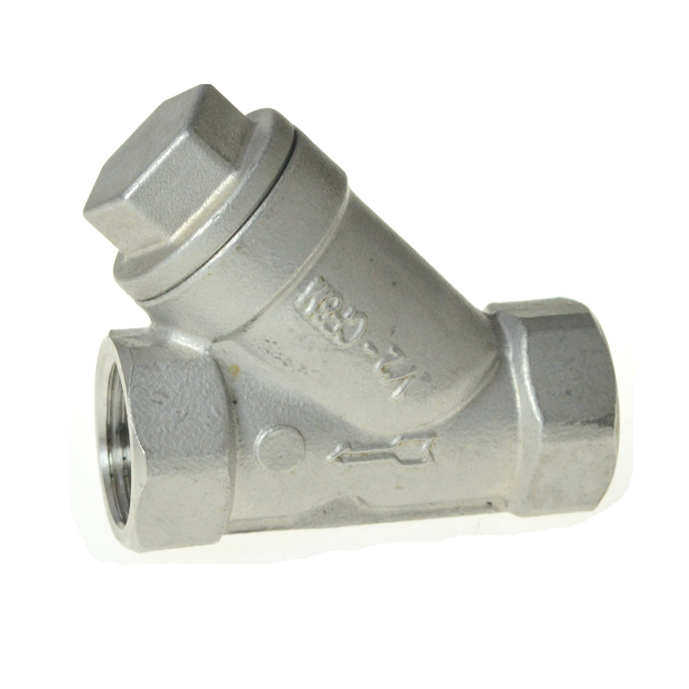 304 Type Y three way Strainer Filter Stainless Steel female Jointer Pipe Connection connector Fittings