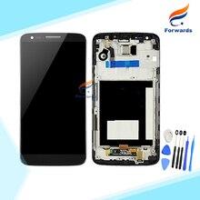 100% Новый Испытания для LG Optimus G2 D802 D805 ЖК-Экран дисплей с Сенсорный Дигитайзер Рамка Инструменты сборки 1 шт. бесплатная доставка