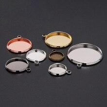 20 шт 10 12 14 16 18 20 25 мм лотки База Установка Камея заготовки под кабошон подвески Fit Кулон ожерелье принадлежности для браслетов для ювелирных изделий
