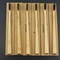 6 Unidades de Madera de Estilo Delgado Novedad de Carbón de Bambú cepillo de Dientes de cerdas suaves Capitellum cepillo de Dientes De Bambú de Fibra de Bambú Mango De Madera