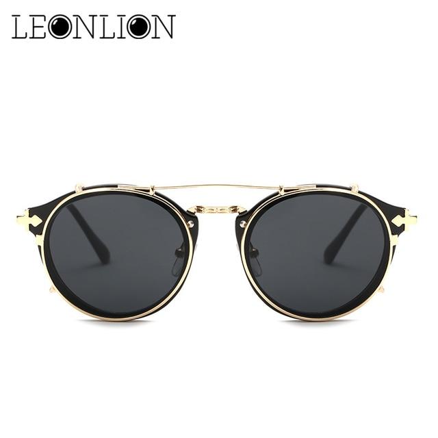 1eda78b46e8 LeonLion 2018 Removable Round Sunglasses Women Men Top Brand Designer Glasses  Male Female Polarized Retro Eyewear UV400