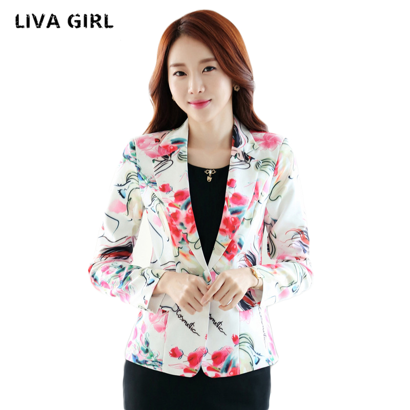 liva girl Ladies Short Suit Jackets In Women Blazer Elegant Double Breasted Blazer Women ...