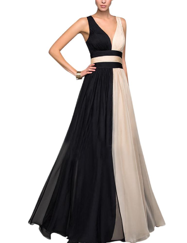 Yiwa   Evening     Dresses   Ever Pretty Elegant V-Neck Sleeveless Backless Ruffles Formal   Evening   Gown Party   Dress   Robe De Soiree   Dress