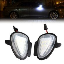 Direct Fit White LED Under Side Mirror Puddle Lights For VW GTi Golf MK6 6 MKVI 2 x turn signal lights under side mirror puddle 6 led lights for vw gti golf mk6 6 mkvi 2010 2014