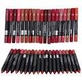 19 pçs/lote kissproof de Maquiagem Matte lipstick com efeito de longa duração Em Pó Mate Suave batom Menow P13016 batom