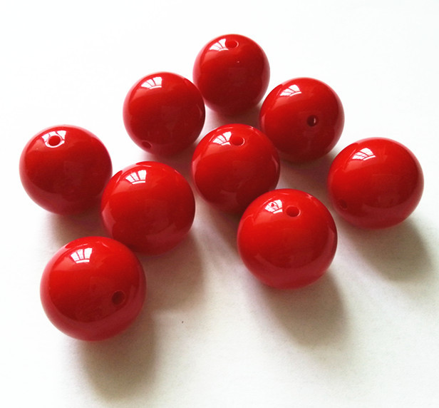 Red Color 20MM 105pcs/lot Chunky Gumball Bubblegum Acrylic Solid Beads ,Colorful Chunky Beads For Necklace (B09)