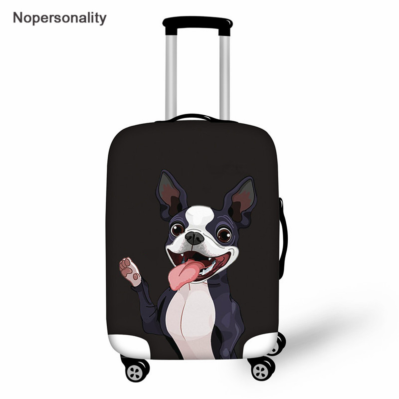 Nopersonality Boston Terrier Travel Luggage Suitcase Elastic Protective Cover, Apply To 18-32inch Cases, Travel Accessories 2019