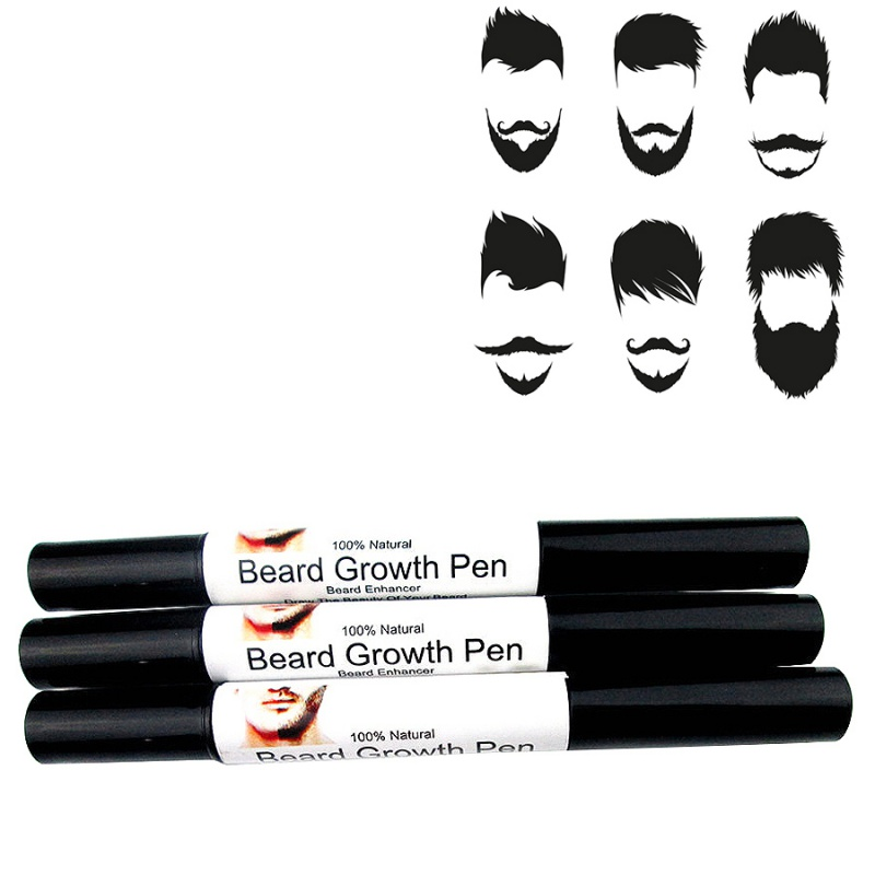 Fast Beard Whiskers Mustache Beard-type growth pen Fast Effective Easy to Use spray Shape Drawing liquid oil pen image