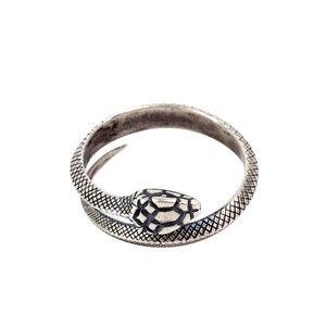 Image 2 - Zavorohin Vintage véritable 925 en argent Sterling ouverture réglable serpent bagues personnalité Animal bijoux comme cadeau