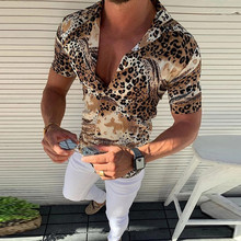 2019 Hot Selling Men  Summer Fashion Shirts Casual Striped S