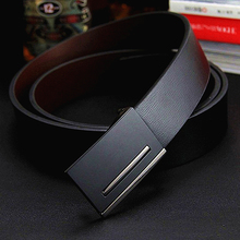 2014 New Men's Belt Fashion genuine leather Belt metal buckle brand Gift belt for Men Boyfriend birthday gift free shipping цена