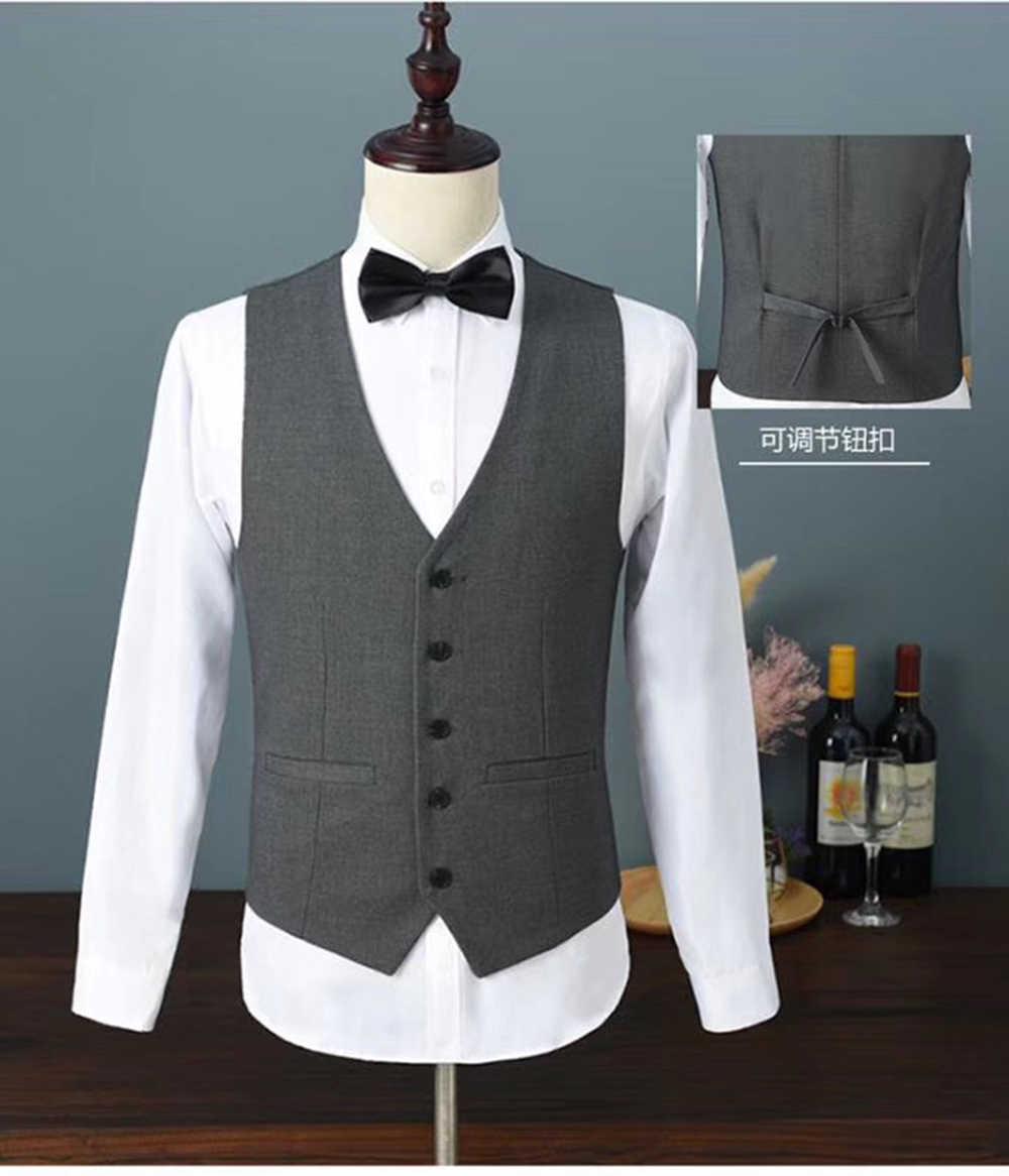 2019 メンズベルベットのスーツ 3 個スリムフィットワンボタンショールラペル花婿の付添人タキシードブレザー結婚式のため、パーティー (ブレザー + ベスト + パンツ)