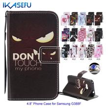 For Samsung Galaxy Xcover 3 Leather Case for Samsung G388F Cover Stand Function Wallet Flip Cover For Galaxy Xcover 3 G388F