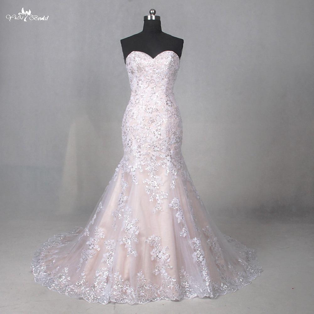 LZ202 Sweetheart Dresses Lace Pattern Court Train Dress