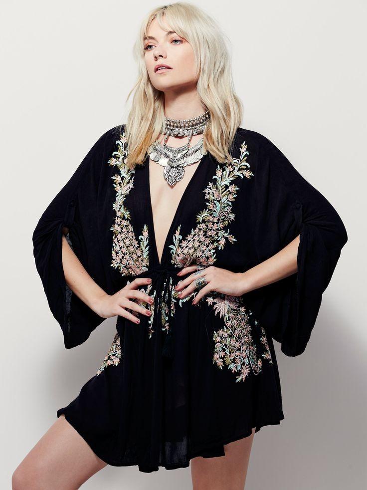 min dress long sleeves V neck (4)