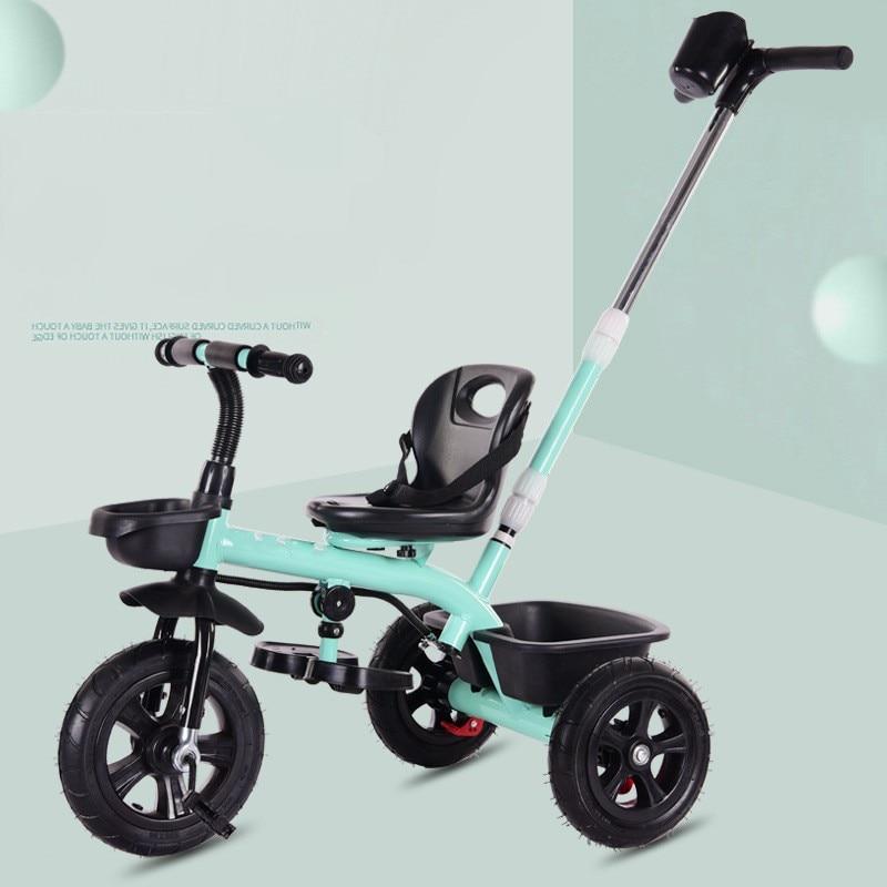 Multifonction bébé enfant Tricycle vélo sans parapluie siège sûr avec ceinture trois roues Tricycle poussette pour 1-6 ans