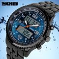 Men's Quartz Watch SKMEI LED Digital Watches dive 30m Brand Design Watches Stainless Steel Multifunction Wristwatch Gift