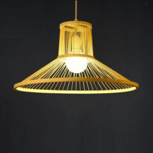 Modern chandelier industrial retro bamboo lamp showroom room restaurant creative personality E27 Japanese LED lights