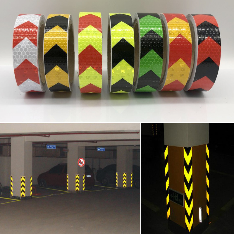 Купить с кэшбэком 25mmx5m Car Decoration Safety Mark Motorcycle Reflective Tape Stickers Car Styling For Automobiles Safe Material